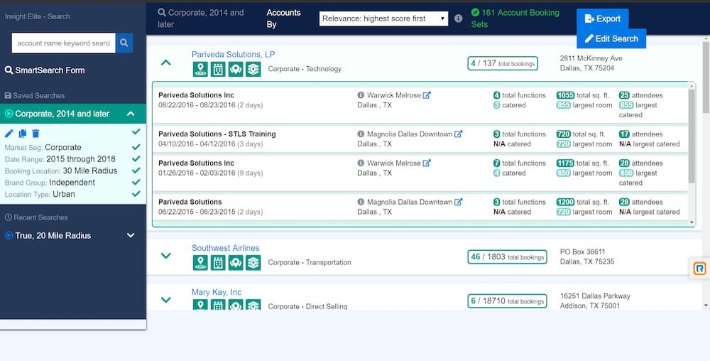 Screenshot of SmartSearch